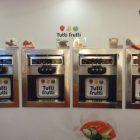 Frozen yogurt dispensers at the Tutti Frutti self-service store in SM City, Cebu.