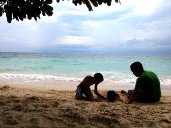 Kids at play in Lambug
