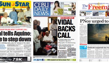 Feb. 14 Cebu newspapers