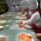 LITTLE CHEFS. Kids prepare their own pizza for baking in Shangri-La's Mactan Resort and Spa's Little Chef, Big Chef cooking class, which is held every Saturday.