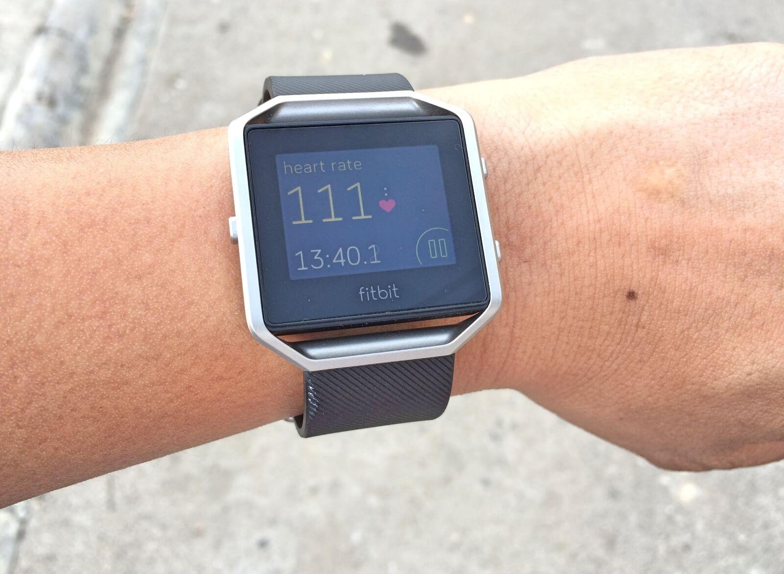 Fitbit Blaze heart monitor