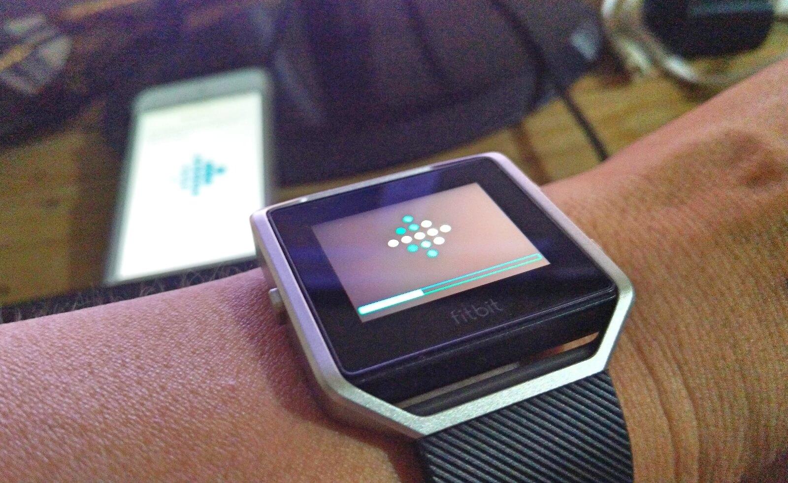 Fitbit Blaze wireless sync