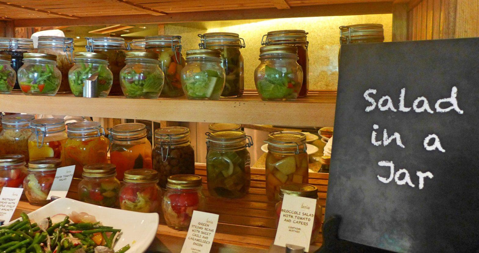 Radisson Blu Cebu Feria buffet salad in a jar