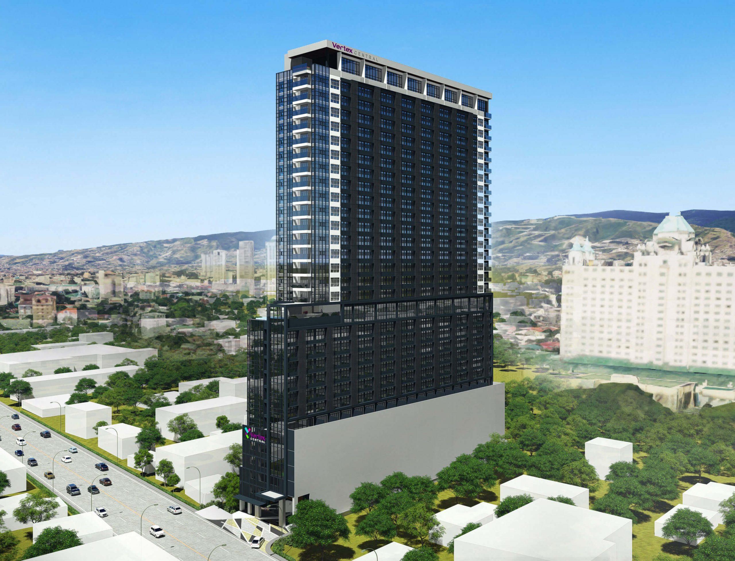 Vertex Central is a 33-storey development on Archbishop Reyes Avenue.