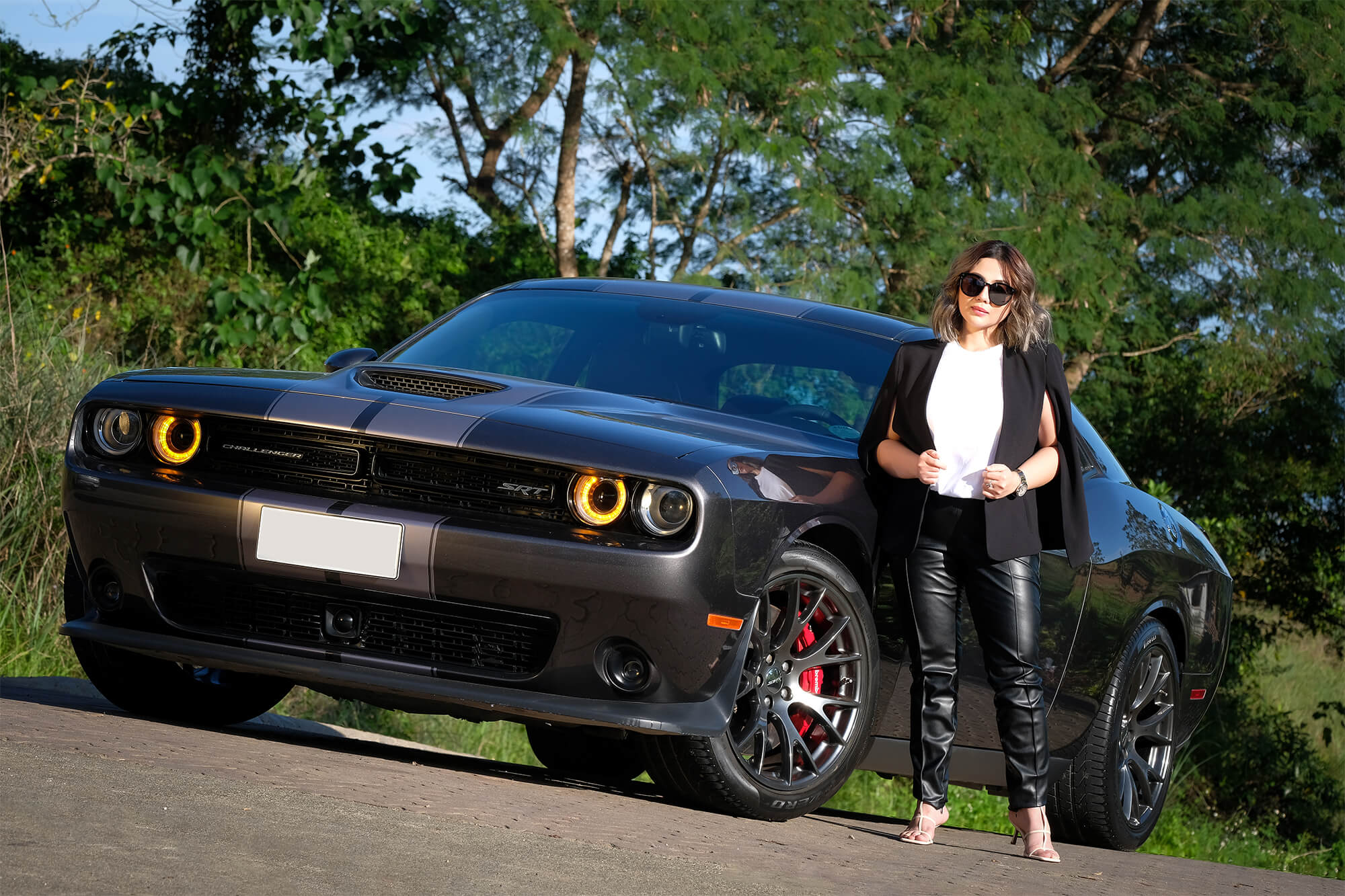 Entrepreneur Amabel Ruiz goes to work (and play) in her Dodge Challenger.