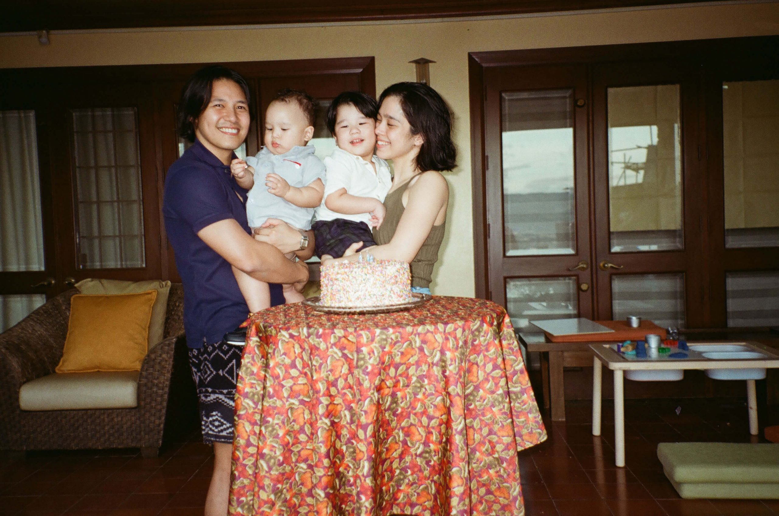 Saab Magalona-Bacarro and her family. The singer, blogger, and podcaster has been juggling work while bonding with her sons Pancho and Vito through fun activities such as swimming, playing, and even cooking together.